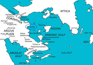 Saronic Gulf Map