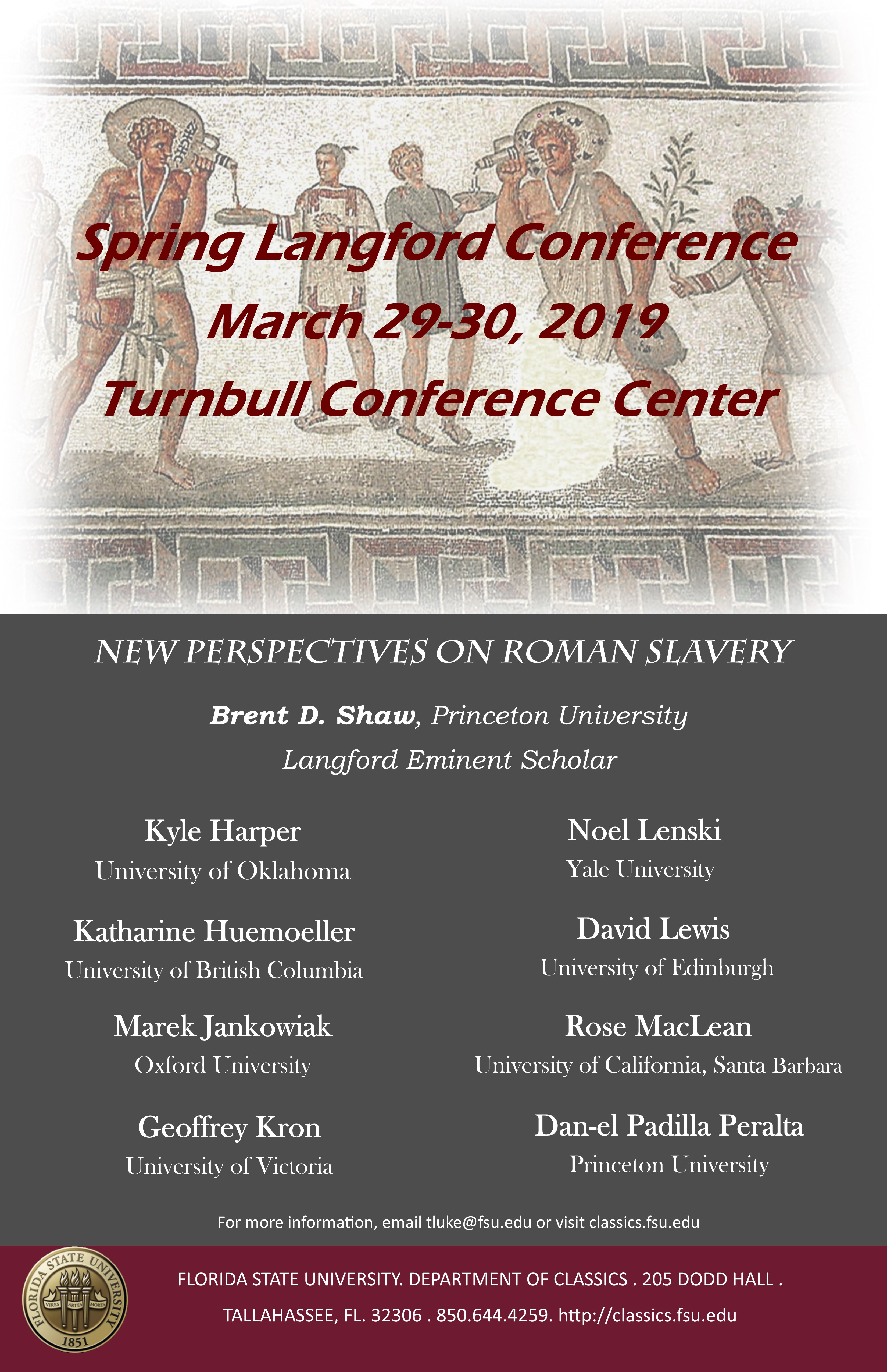 Spring Langford Conference March 29-30, 2019 | Department of Classics